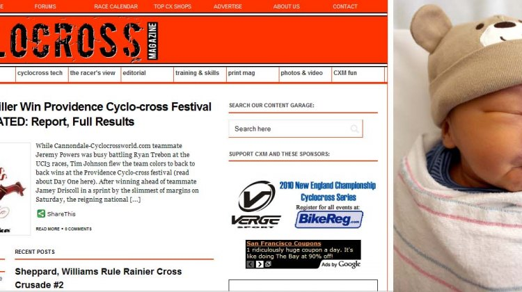 Cyclocross Magazine's new website