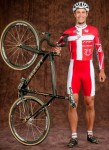 Joachim Parbo poses with one of his Leopard cyclocross bikes