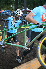 Tandem cyclocrossers now have their own class. by Steve Ransom