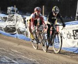 Andrea Smith (Ladies First Racing) found the small patch of daylight beside Bruno-Roy (Bob's Red Mill p/b Seven Cycles) for the win ©Natalia Boltukhova | Pedal Power Photography | 2010