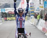 Katie Compton winning in Kalmthout ©Bart Hazen