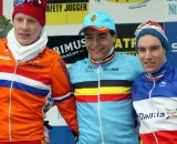 The U23 podium in Zolder. © Bart Hazen