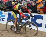 Sven Nys continued to hunt for a victory but had to settle for second at the Koksijde World Cup. ©Bart Hazen