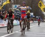 Zdenek Stybar continues his winning streak at the Koksijde World Cup 11/28/2009 ©Bart Hazen