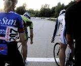 Races between NEV and CycleLoft riders foreshadowed the conflict that has arisen this season. © Natalia McKittrick