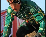 Nys pre-riding in his world champ- and Belgian champ-striped kit ©Danny Zelck