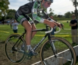 Jeremy Powers takes win #2 at the UCI3 Cyclocross Festival. © Mitch Clinton