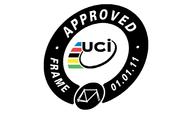 UCI bicycle frame approval protocal and sticker