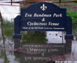 Eva Bandmand park, Louisville World Championships cyclocross venue flooded. © Noland and Mary Boyd