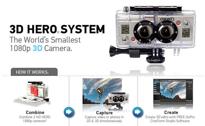 GoPro Hero 3D 1080p HD Camera Accessory Kit