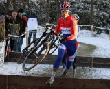 Here, Lars Boom goes hard during a cyclocross race. Yesterday, he took the first King of the Hill climb in the Amgen Tour of California.  © Bart Hazen
