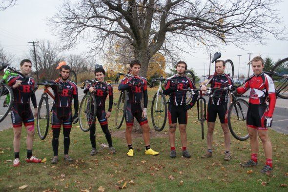 The Rutgers Cyclocross Team, circa 2010. © Molly Hurford