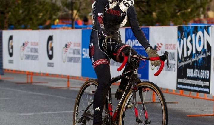 Emma White takes her first cyclocross title but has won a road title before. © Tim Westmore