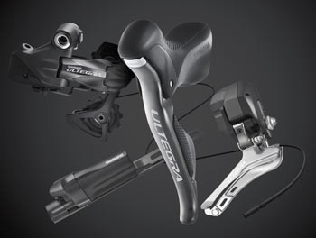 Shimano Ultegra with the new Di2 electronic shifting.