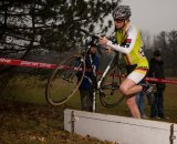 Paul Warloski takes a barrier. Photo courtesy of Paul Warloski