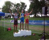 Van Den Bosch, Field and Lindine on the podium Day 2 of Nittany Lions Cyclocross.