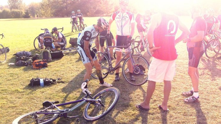 Labor Day cyclocross was a salute to the end of summer. Joey Mullan