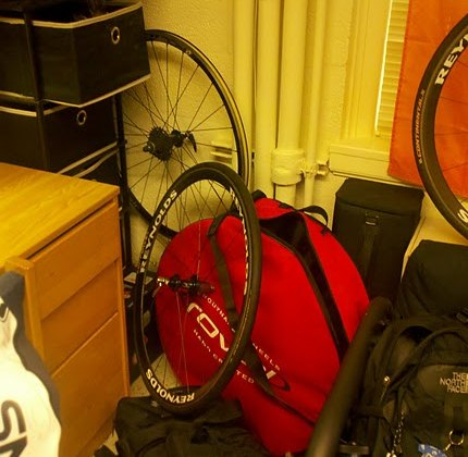 The dorm room of a cyclist. James McCabe