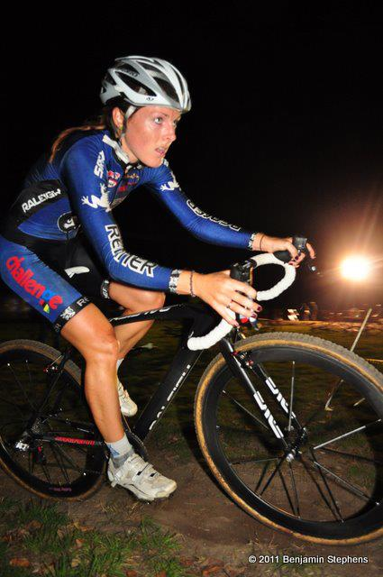 Gabby Day at the Midnight Ride of Cyclocross. Russ Campbell