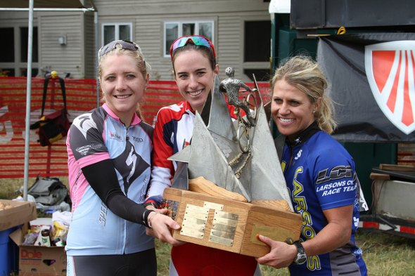 The women's podium at Chequamegon.  © Amy Dykema