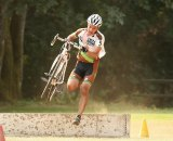 Sterry takes to the barriers at David Douglas CX. Photo courtesy of David Sterry