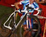 Katerina Nash takes the barriers - and the win - at CrossVegas. Jon Suzuki