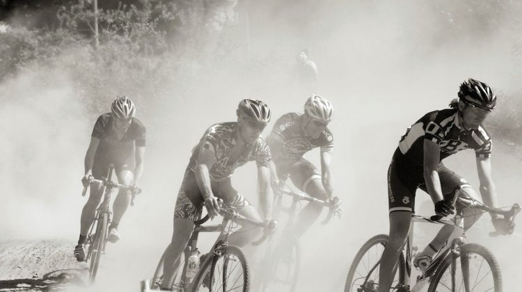 A dusty scene at the Langley Cyclocross Classic. Joe Sales