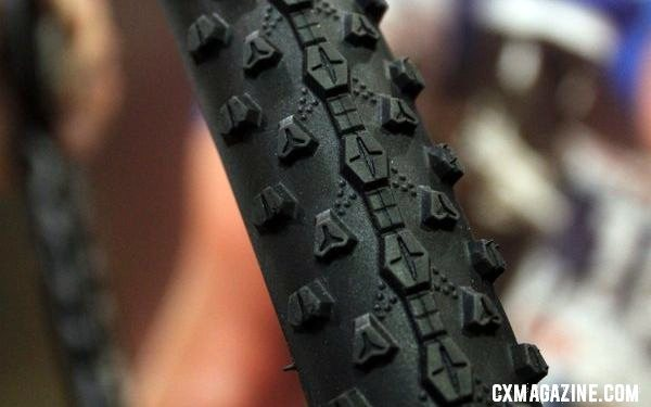 Vredestein is eyeing the cyclocross market, and showed off their new Black Panther tread. © Cyclocross Magazine