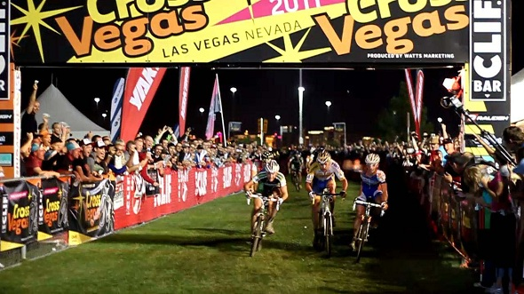 Lards van der Haar leads a European sweep of the 2011 CrossVegas podium © Cyclocross Magazine