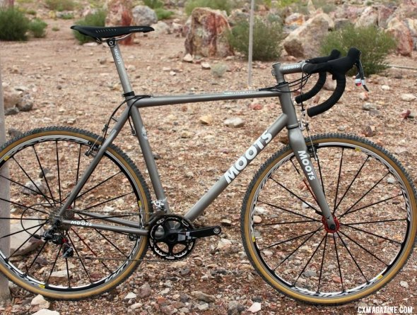 The Moots PsychloX RSL titanium cyclocross bike is ready for production after several years in development. © Cyclocross Magazine
