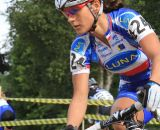 Katerina Nash in control at the front of the race. ©Janet Hill
