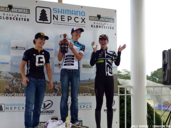 Smith, Wyman and Duke on the Women's Podium at Gloucester Day 1.