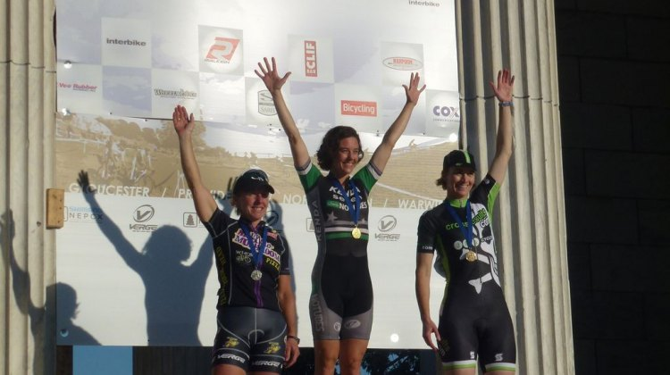 Van Gilder, McConnelough and Annis on the podium.