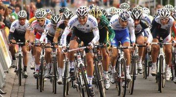 Zdenek Stybar stormed off the start for the holeshot © Dan Seaton