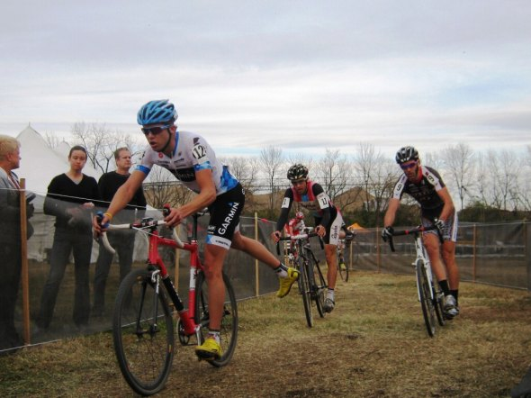 Coming at run up in the Mens Elite race at the USGP in Louisville. J.D. Kimple