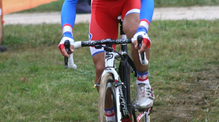 French national champion Francis Mourey took the win Saturday at Nommay Cyclocross. ©Renner Custom CX Team