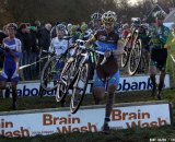 Kenneth van Compernolle takes the barriers, and Nys took the win at Superprestige Glieten. Bart Hazen