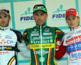 The podium with (from L. to R. ): Niels Albert, Sven Nys and Kevin Pauwels. © Bart Hazen