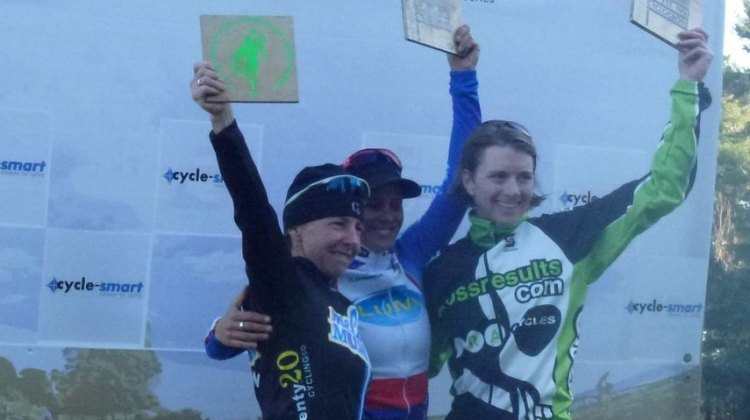Women's Podium, Day 2 at Cycle-Smart International. Cyclocross Magazine