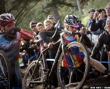 Chris Jones' laps a rider and hops a tree on his way to the SSCXWC 2011 title. © Kevin White