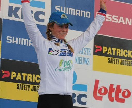 Daphny van den Brand took the win in Koksijde today. Thomas Van Brancht