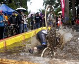 The Pool of Filth proved to be a suprisingly refreshing obstacle for some. SSCXWC 2011. © Tim Westmore