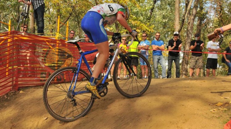 This weekend the U.S. Gran Prix of Cyclocross returns to Louisville for round three, where Georgia Gould won both days last year. © Greg Sailor – VeloArts
