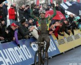 Sven Nys takes a muddy win at Namur World Cup 2011.  © Bart Hazen