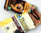 Honey Stinger Waffle and Chocolate #9 energy gel. © Cyclocross Magazine