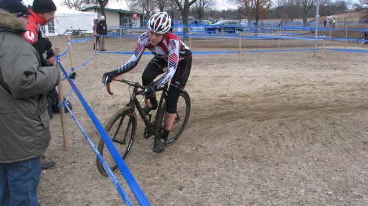 Kari Studley opened a gap and held it, taking the women's singlespeed race. David Hurford