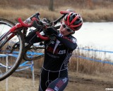 Emma White dominates the 15-16 Junior Women's field despite some early tumbles. © Cyclocross Magazine