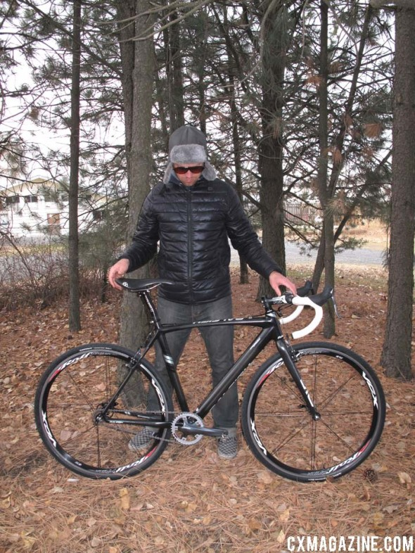 J.T. Fountain with his Raleigh RXC Pro.