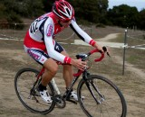 Andy Jaques-Maynes leads a trio of Cal Giant/Specialized racers to win the CCCX season finale. © Tim Westmore