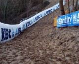 Loose sand might make for a slippery course. Christine Vardaros